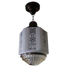 Vintage Schoolhouse Style Ceiling Light Fixture