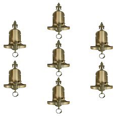 Large Lot Nickel over Brass Tudor Style Sconces
