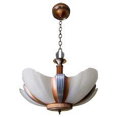 Streamline 5-light Art Deco Slip Shade Chandelier