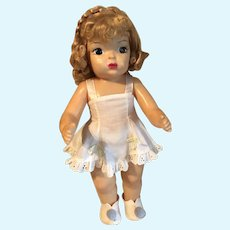 Terri Lee, pretty doll, tagged slip, original panties, special hair braid at top