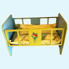 J. Chein Doll Crib, with pad