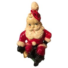 Santa Bank Chalkware, very nice