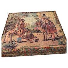 Victorian Wood Puzzle Blocks in original wood box