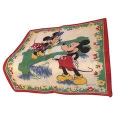 Walt Disney Hankie early Mickey and Minnie WDP