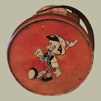 Disney Characters Tin with handle, 1940, Candy, Tea or Lunch