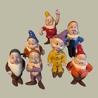 Early 7 Dwarfs Sieberling Rubber Co, complete set wonderful