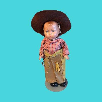 Effanbee Baby Grumpy Cowboy, composition,  original clothes and Effanbee heart