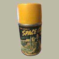 Tom Corbet Space Cadet Thermos, 1952, metal