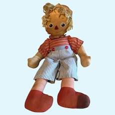 Baby Buddy, American Toy and Novelty Co., 1940's, cloth rag doll