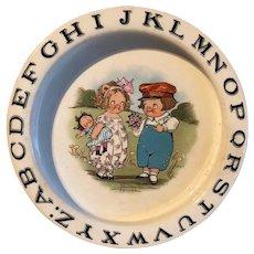 Campbell Kids Alphabet Bowl, Buffalo Pottery