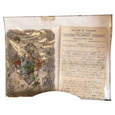 Valentine, Antique, 1895 with letter provenance
