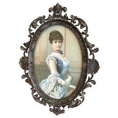 Victorian Ornate frame, Art Gravure, Brass mod.dep