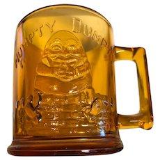 Glassware, Humpty Dumpty/Tom Tom, amber glass