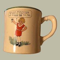 Glassware: Porcelain  & Pottery: Ovaltine: Little Orphan Annie Ovaltine Porcelain Cup, Mug