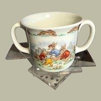 BunnyKins 2 Handled Cup Royal Doulton