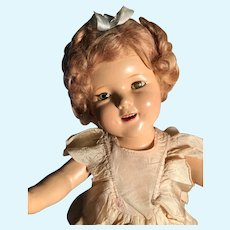 Dolls, Composition Shirley Temple Little Colonel