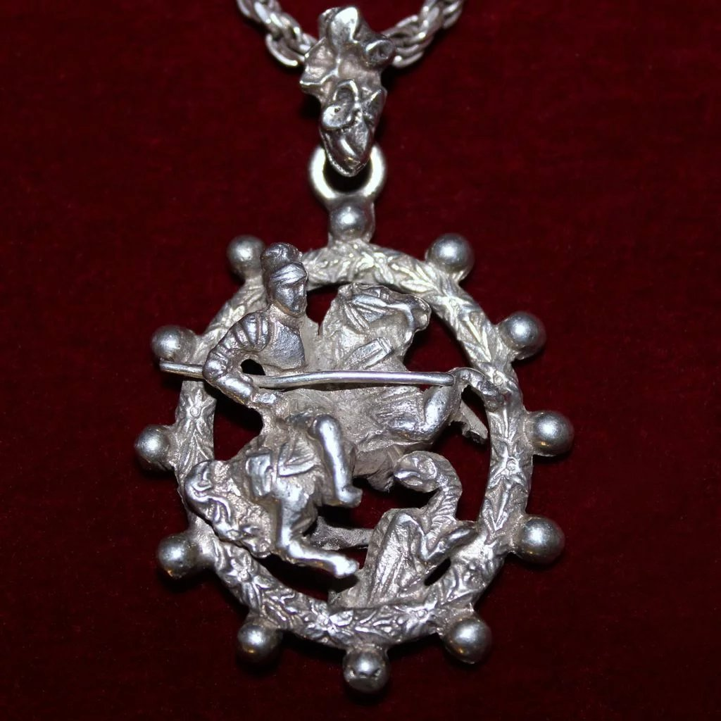 pilgrim badge george main custom st pendant secular