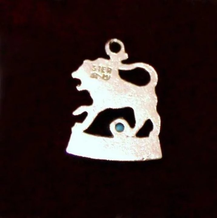 August Birthday Sterling Silver Leo Zodiac Charm For July 23