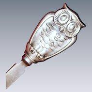 Lovely Gorham Owl Bookmark Sterling Silver Owl Vintage American Silver