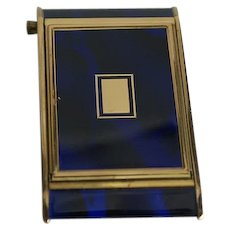 Kamra Blue Enamel Powder Compact