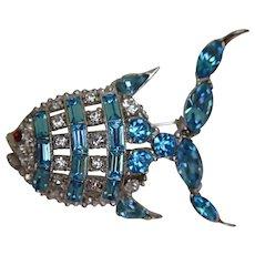 Vintage Signed Bogoff RARE Angel Fish Pin Brooch FREE SHIPPING