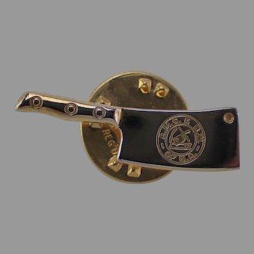 Vintage Cleaver Pin AMC & BW of NA Amalgamated Meat Cutters AMCBW