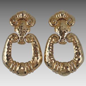 Vintage Statement Barrera for Avon Door Knocker Clip Earrings - Bold and Sassy!