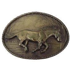 Horse, Mustang Belt Buckle Great American Buckle Co. 1980