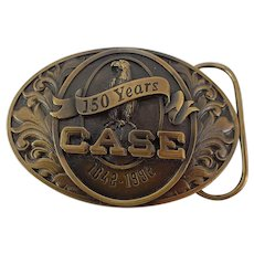 Case 150 Year Anniversary 1842-1992 Limited Edition Brass Belt Buckle in Box