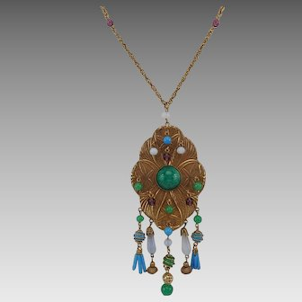 Splendid Turn of the Century Big Bold Necklace