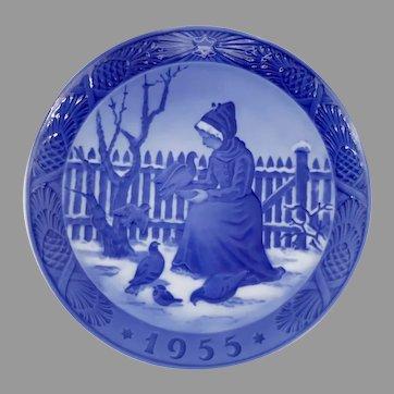 1955 Royal Copenhagen Christmas Plate Fano Girl - Kai Lange