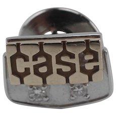 JI CASE Company 10K Gold and 2 Diamonds 20 Year Service Pin