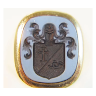 Agate Crest Ring, Handcarved