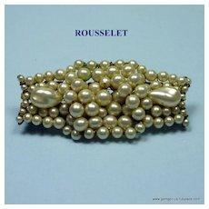 Rousselet Faux Pearl Brooch