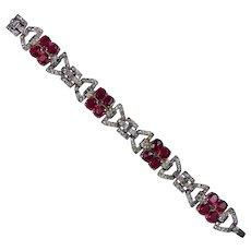 Rhinestone KTF Trifari Bracelet