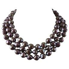 Christian Dior Three Strand Necklace
