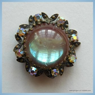 Brooch Pendant with Huge Central Saphiret