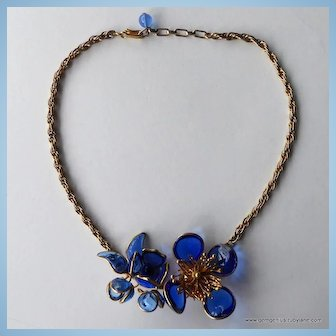 French Poured Glass Necklace