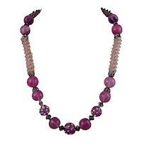 French Rhinestones and Bead Necklace