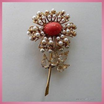 Large Schreiner Flower Pin