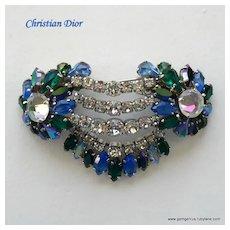 Early Christian Dior Large Rhinestone Brooch