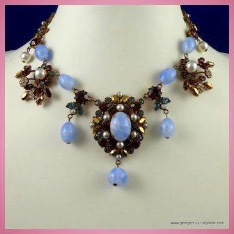 Bead and Rhinestone Necklace by Maryse Blanchard