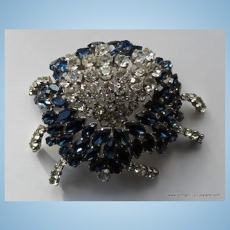 Large Couture Rhinestone Brooch