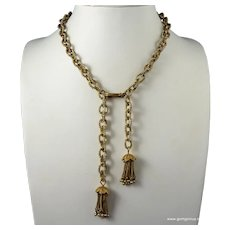 Rousselet Gilt and  Pearl Necklace