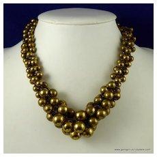 Gilt Ball Collar Necklace