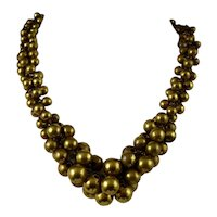 Gilt Ball Collar Necklace