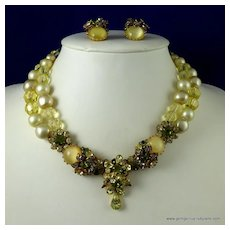 Ornate De Mario Necklace and Earring Set