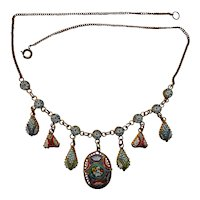 Italian Antique Micro Mosaic Necklace