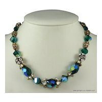 Vogue Rhinestone and Bead Necklace