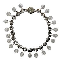 Francoise Montague Crystal Bead and Metal Collar